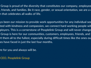 A Message from Peoplelink Group's CEO Jay Reid